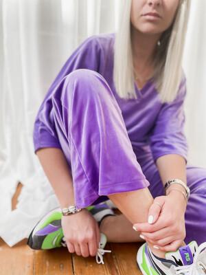 Velvet pants Purple