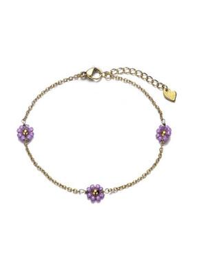 Bracelet Flower Lila