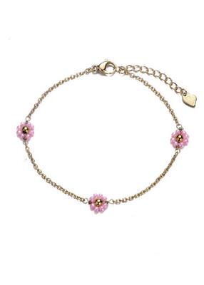 Bracelet Flower Pink