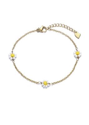 Bracelet Flower White