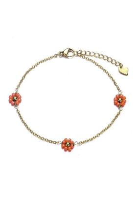 Bracelet Flower Koraal