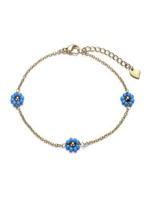 Bracelet Flower Blue