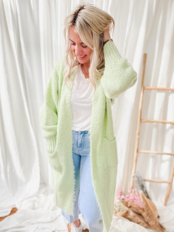 Cardigan XOXO soft green