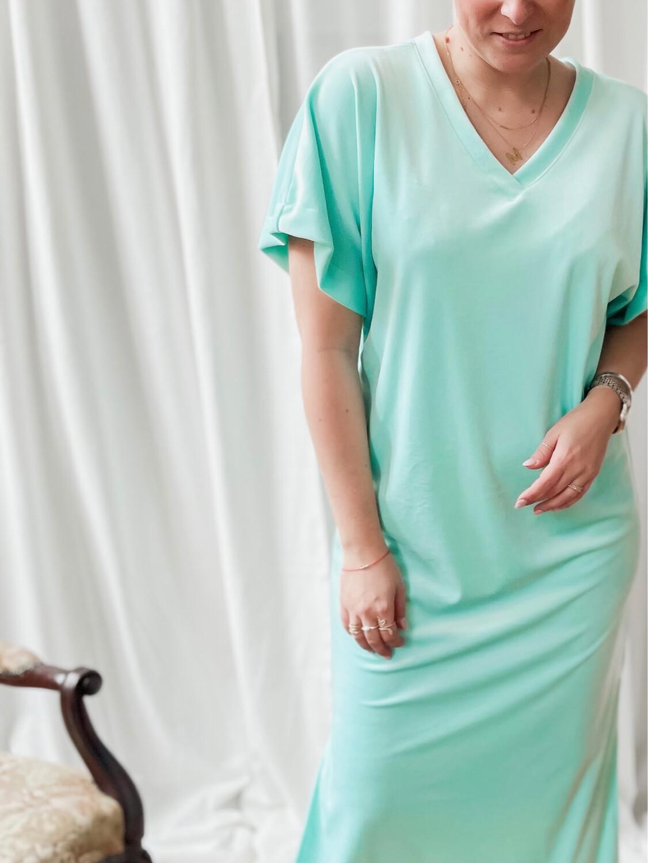 Velvet dress green