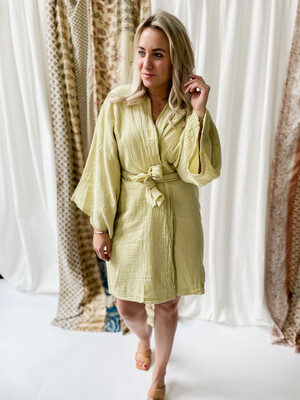 Kimono/Dress Noella lime