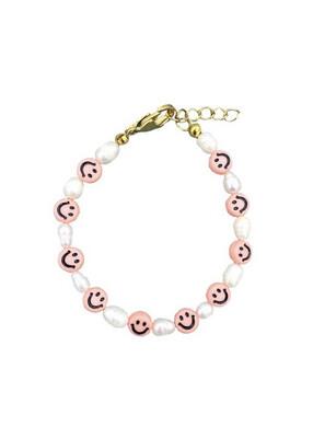 Bracelet Smiley Pink