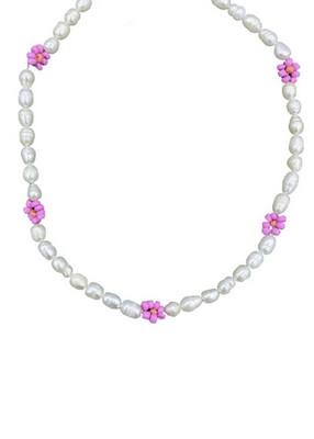 Necklace Flower Pink