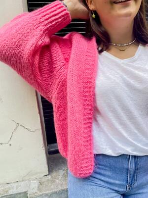 Cardi Elle Pink