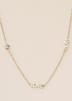 Necklace Love Mom