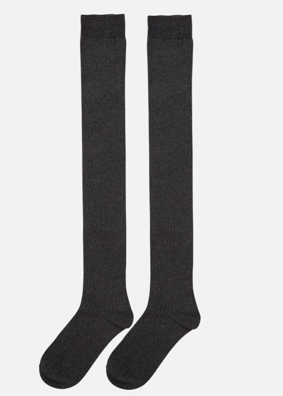 Knee socks Moss grey