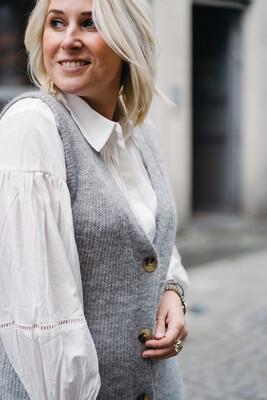 blouse Cham white