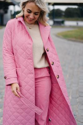 Coat Flora pink