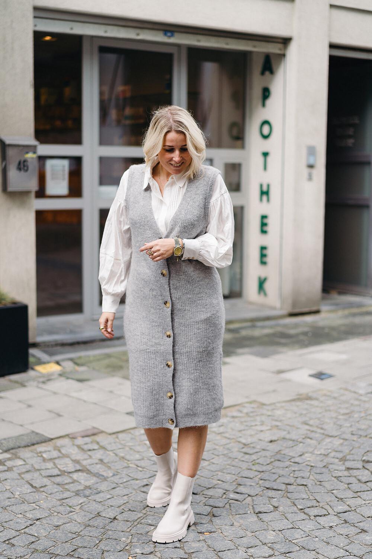 Long vest Bella grey