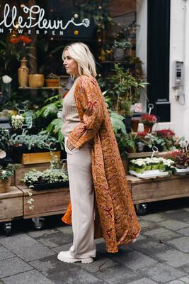 Kimono reversible orange
