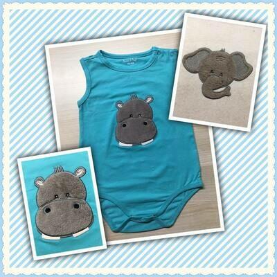 Nijlpaard kop applicatie