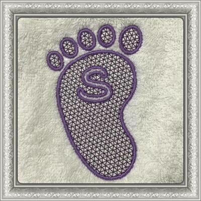 Embossing voetjes compleet alfabet