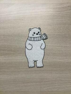 ijsbeer staand lijntekening