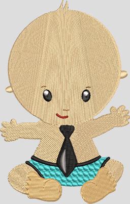 Baby met stropdas