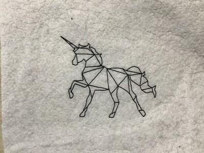 lijntekening eenhoorn