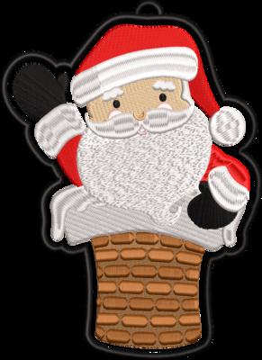 Kerstman hanger groot