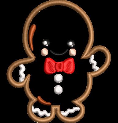 Gingerbread kerstkoekje man applicatie
