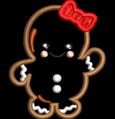 Gingerbread kerstkoekje vrouwtje applicatie