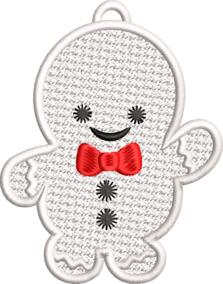 Free stand lace gingerbread poppetje