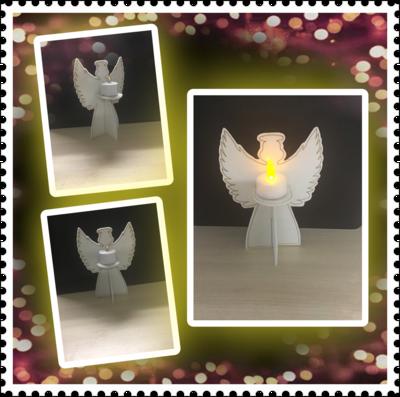 Engel voor (nep) waxine lichtje