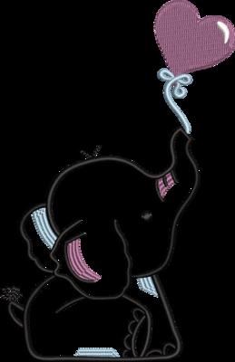 olifantje met ballon lijntekening