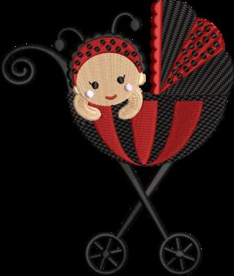 Kinderwagen lieveheersbeestje