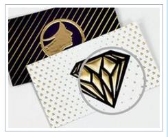 100 Quantity, 19 pt. Thick, Raised Foil Business Cards