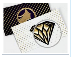 250 Quantity, 19 pt. Thick, Raised Foil Business Cards