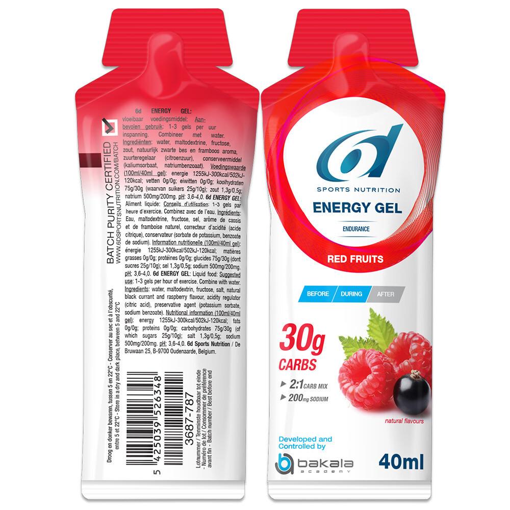 ENERGY GEL RED FRUITS (6 stuks)