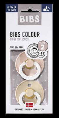 BIBS 2 duo GLOW IN THE DARK blush - vanilla