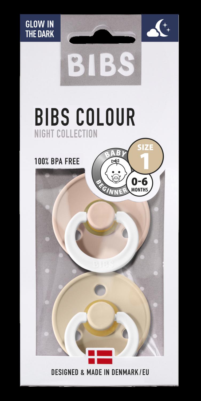 BIBS 1 duo GLOW IN THE DARK blush - vanilla