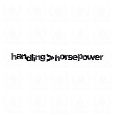 Handling Horsepower