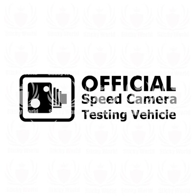 Official Speed Camera Testing Vehicle
