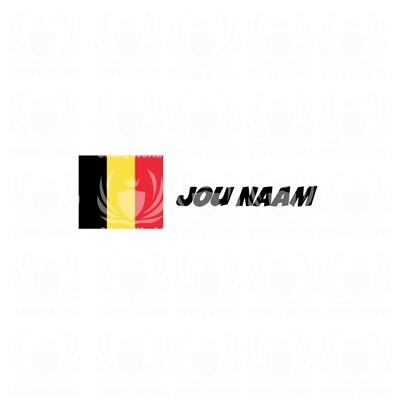 Belgische Vlag Met Naam