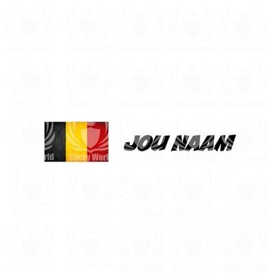Custom Belgische Vlag Met Naam