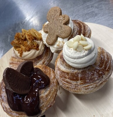 Winter Sourdough Cruffins  - (Mixed box of 4 flavours)
