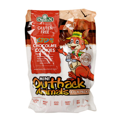 Orgran Mini Outback Animals Chocolate Cookies Multipack