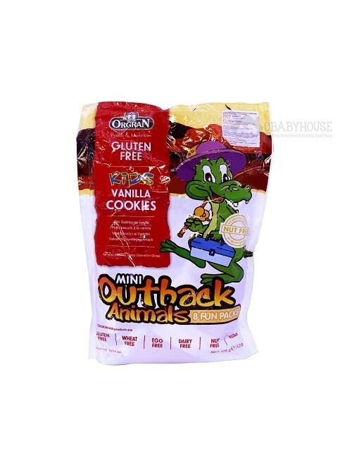 Orgran Mini Outback Animals Vanilla Cookies Multipack