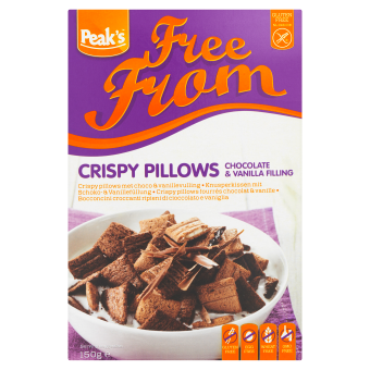 Peak's Crispy Pillows met chocolade en vanillevulling