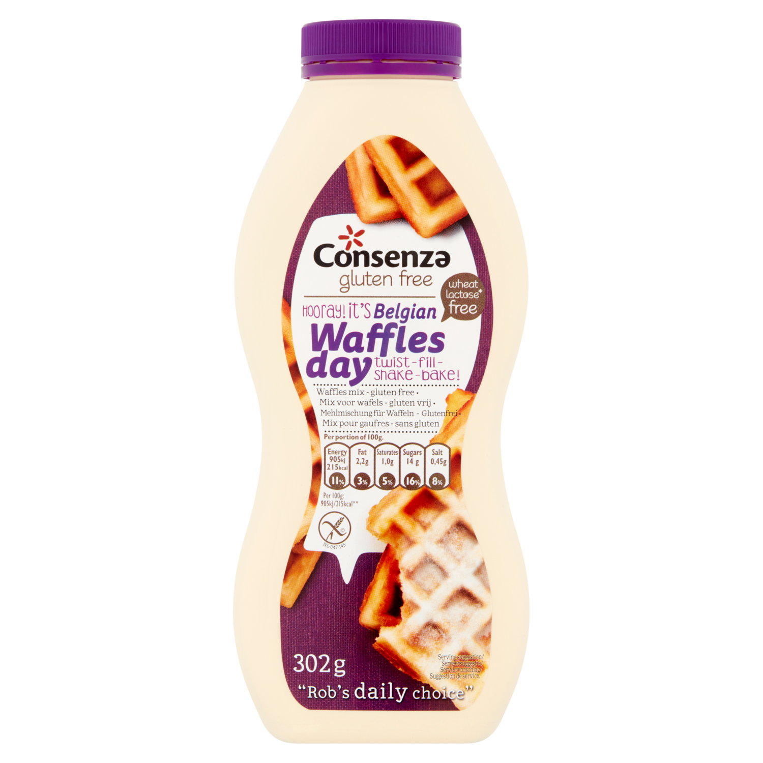 Consenza Shaker Brusselse Wafelmix