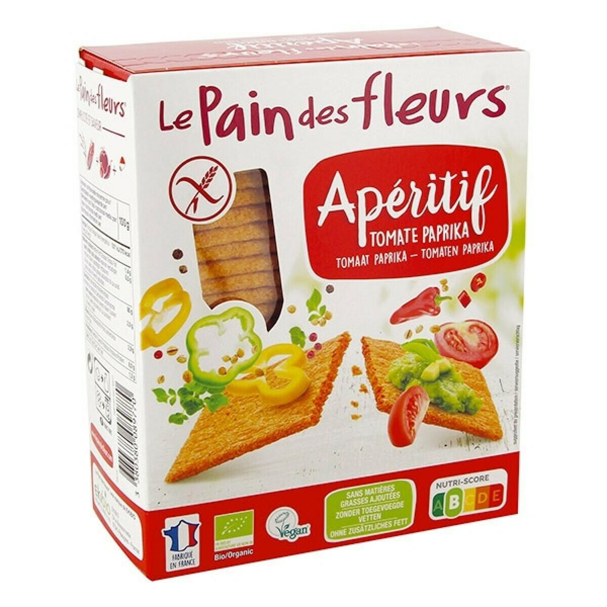 Le Pain Des Fleurs Bio Aperitief Tomaat-Paprika Crackers