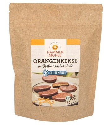 Hammer Muhle Bio Sinaasappelkoekjes omhuld met melkchocolade