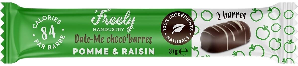 Freely Handustry Bio Date-Me Dadel - , En hazelnootrepen omhuld met fondant en witte chocolade