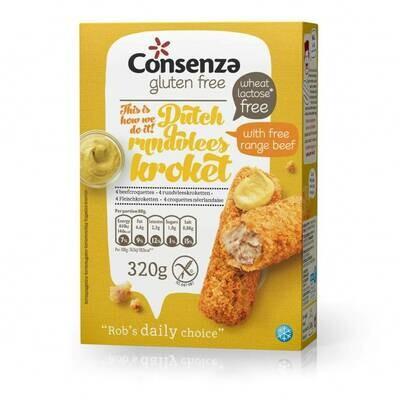 Consenza Rundvleeskrokettten 320 g  ( Bestellen voor Dinsdag 18 uur voor levering op zaterdag in uw provincie of afhaal !)
