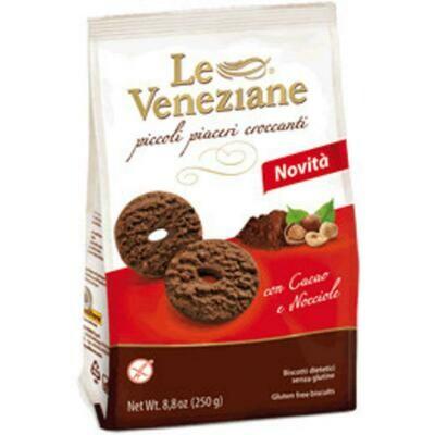 La veneziane Chocolade Hazelnoot Koekjes 250 g