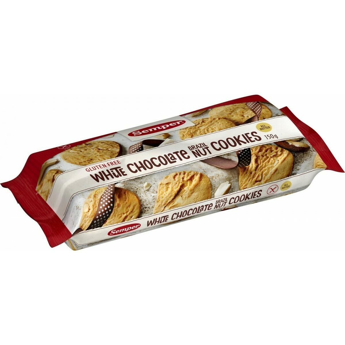 Semper White Chocolate Brazilnut Cookies